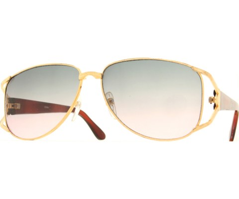 Vintage Wide Sunglasses - Gold/Gradient
