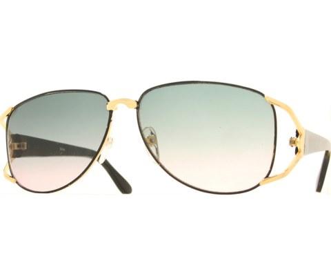 Vintage Wide Sunglasses - Black/Gradient