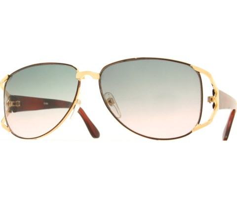 Vintage Wide Sunglasses - Brown/Gradient