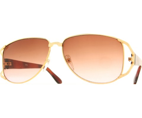 Vintage Wide Sunglasses - Gold/Brown