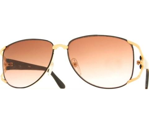 Vintage Wide Sunglasses - Black/Brown