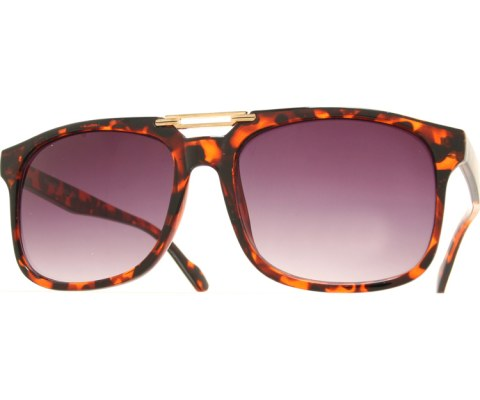 Art Deco Aviator Sunglasses - Tortoise/Smoke
