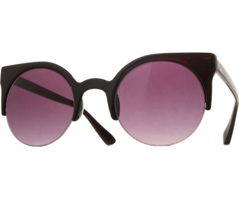 Super Round Sunglasses - Black/Smoke