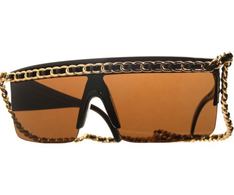 Gaga Leather Gold Chain Sunglasses