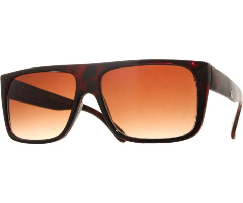 Squared Flatop Sunglasses - Tortoise/Brown