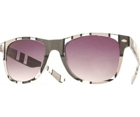 Color Block Art Cool Sunglasses - Grey/Smoke