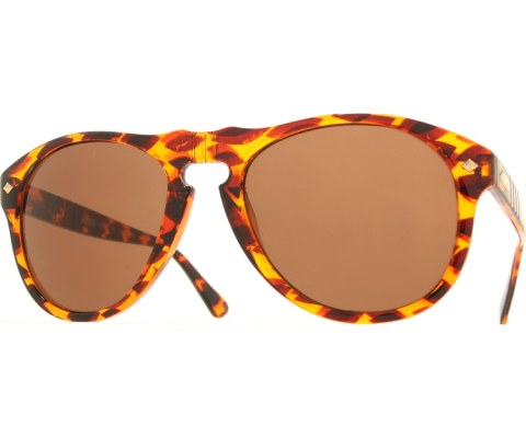 Stealth Aviator Sunglasses - Tortoise/Brown