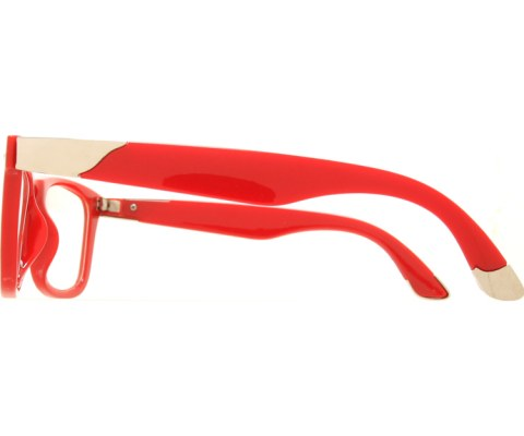 Clear Metal Tip Cool Glasses - Red/Clear