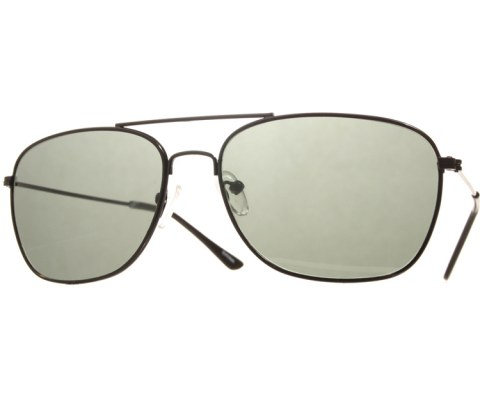 Aviator Slouch Sunglasses - Black/Green