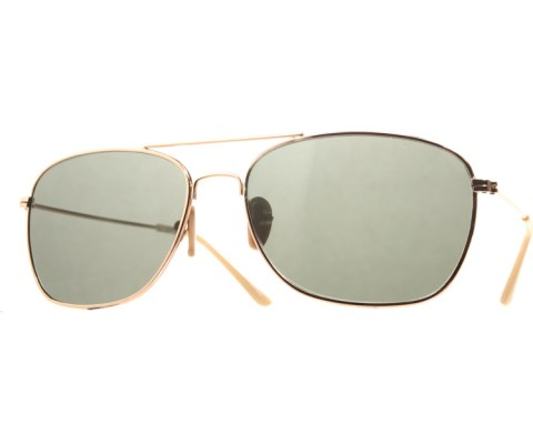 Aviator Slouch Sunglasses - Gold/Brown