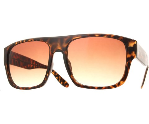 Arched Top Aviator Sunglasses - Tortoise/Brown