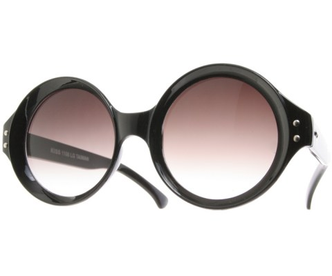 Circle Vintage Sunglasses - Black/Smoke
