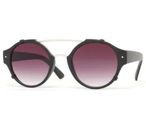 Round Bent Sunglasses - MatteBlack/Black