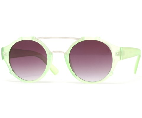 Round Bent Sunglasses - Green/Black