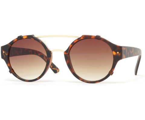Round Bent Sunglasses - Tortoise/Brown