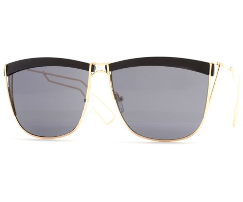 Square Wire Sunglasses - Black/Black