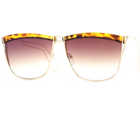 Square Wire Sunglasses - Tortoise/Brown
