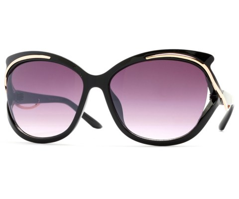 Gold Swerve Sunglasses - Black/Black