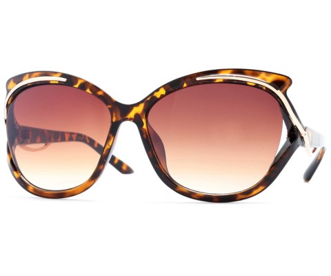 Gold Swerve Sunglasses - Tortoise/Brown