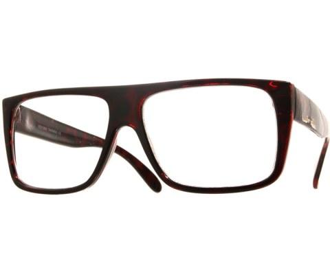 Squared Chunky Glasses - Tortoise/Clear