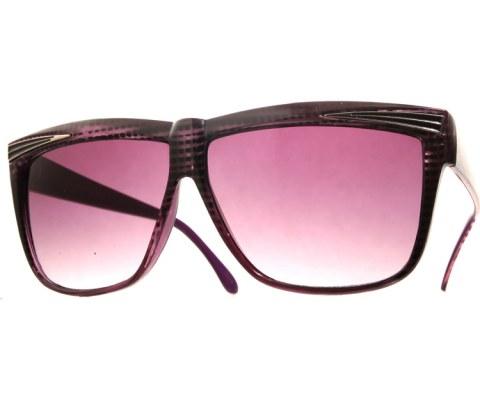 Vintage 70s Pattern Sunglasses - Purple/Smoke