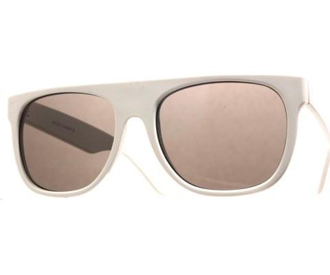 The Minimalist Sunglasses - White/Black