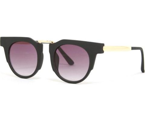 Gold Block Sunglasses - Black/Black