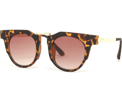 Gold Block Sunglasses - Tortoise/Brown