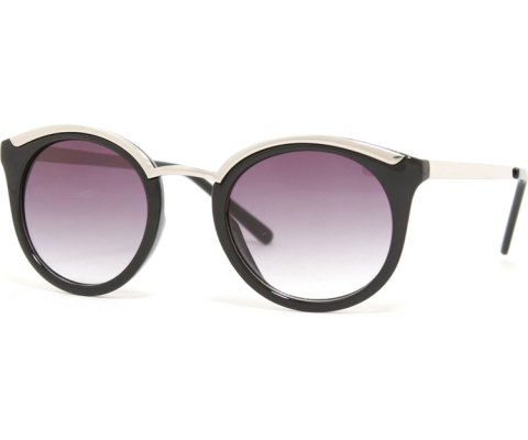 Modern Cool Sunglasses in Silver - Black/Black