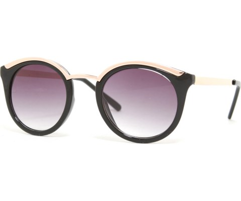Modern Cool Sunglasses in Gold - Black/Black