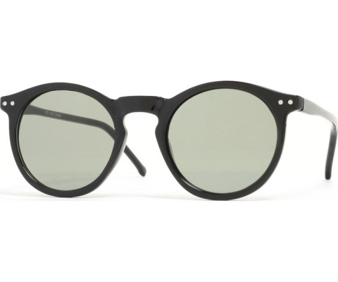 Round Keyhold Sunglasses - Black/Green