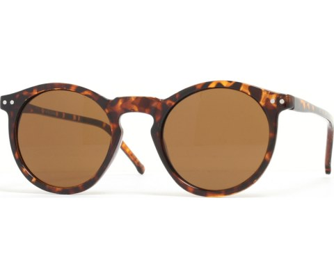 Round Keyhold Sunglasses - Tortoise/Brown