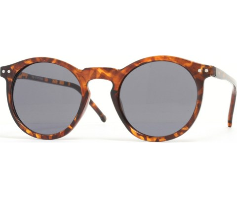 Round Keyhold Sunglasses - Tortoise/Black