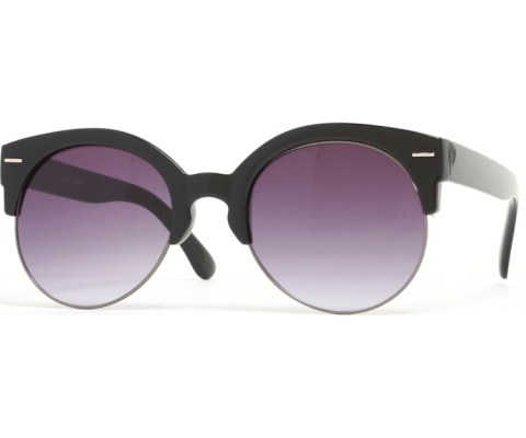 Half Gold Sunglasses - BlkPwt/Black