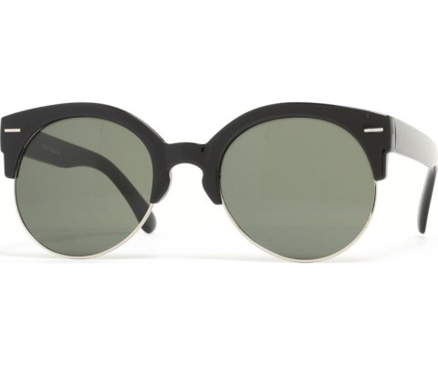 Half Gold Sunglasses - BlkGld/Green
