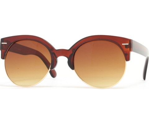 Half Gold Sunglasses - Brown/Brown