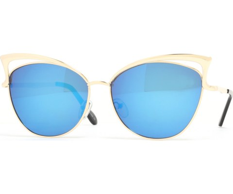 Revo Metal Cateye Sunglasses - Gold/Blue