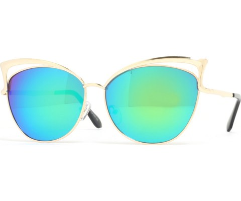 Revo Metal Cateye Sunglasses - Gold/Green