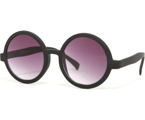 Circle Sunglasses - MatteBlack/Smoke