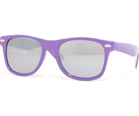 Mirrored Cool Sunglasses - Purple/Mirror