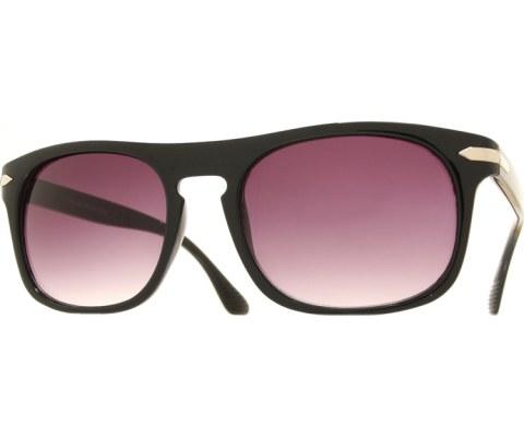Aviator Keyhole Sunglasses - Black/Smoke