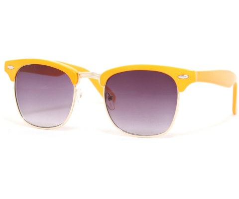 Cool 60s Sunglasses - Orange/Smoke