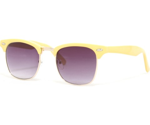 Cool 60s Sunglasses - Yellow/Smoke