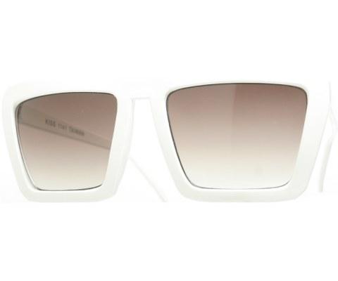 Squared G6 Sunglasses - White/Smoke