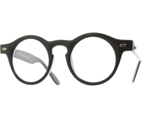 Clear Vintage Mini Circle Glasses - Black/Clear