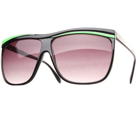 Neon Oversized Sunglasses - Green/Smoke
