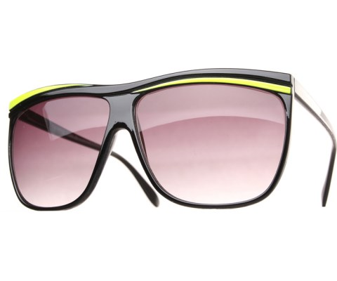 Neon Oversized Sunglasses - Neon/Smoke