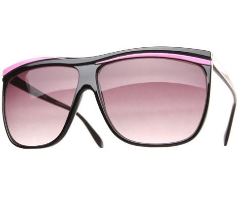 Neon Oversized Sunglasses - Pink/Smoke