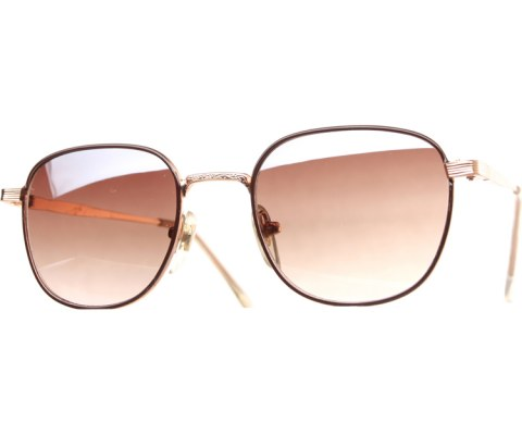 Small Metal Spec Sunglasses - BrnGld/Brown