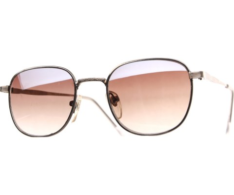 Small Metal Spec Sunglasses - Pewter/Brown